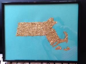 DIY: Glittered Home State #DIY #craft #glitter #homesweethome