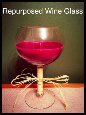 DIY Repurposing: Wine Glass Candles #repurpose #DIY #craft #wineglass #candle