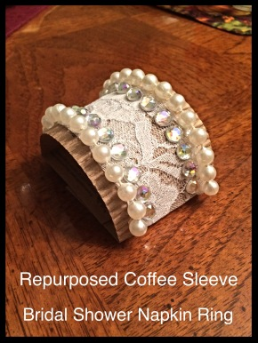 DIY Repurposing: Coffee Sleeve Turned Napkin Ring #DIY #repurposing #craft #coffeesleeve #napkinring #poshrepurposing poshrepurposing.com
