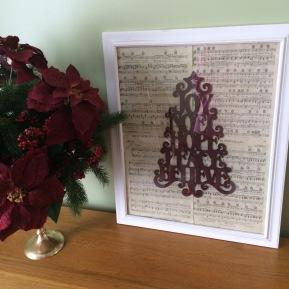 DIY Repurposing: Aged Sheet Music #vintage #diy #craft #repurposing #music #decor #christmas